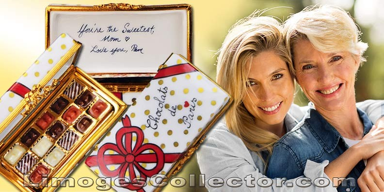 Chocolates Melt. Why Not Melt Mom's Heart Instead with a Personalized Limoges Box for Mother's Day?