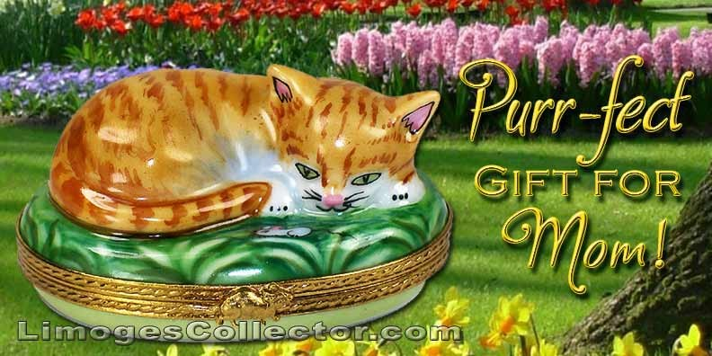 Limoges Cat Boxes That are Just Purr-fect for Mom