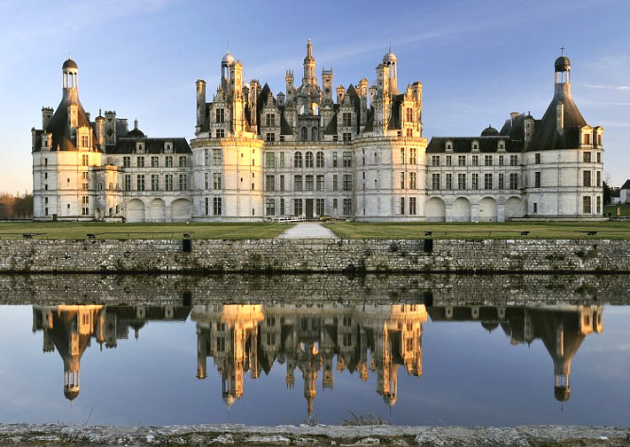 Chateau de Chambord Palace in the Loire Valley, France