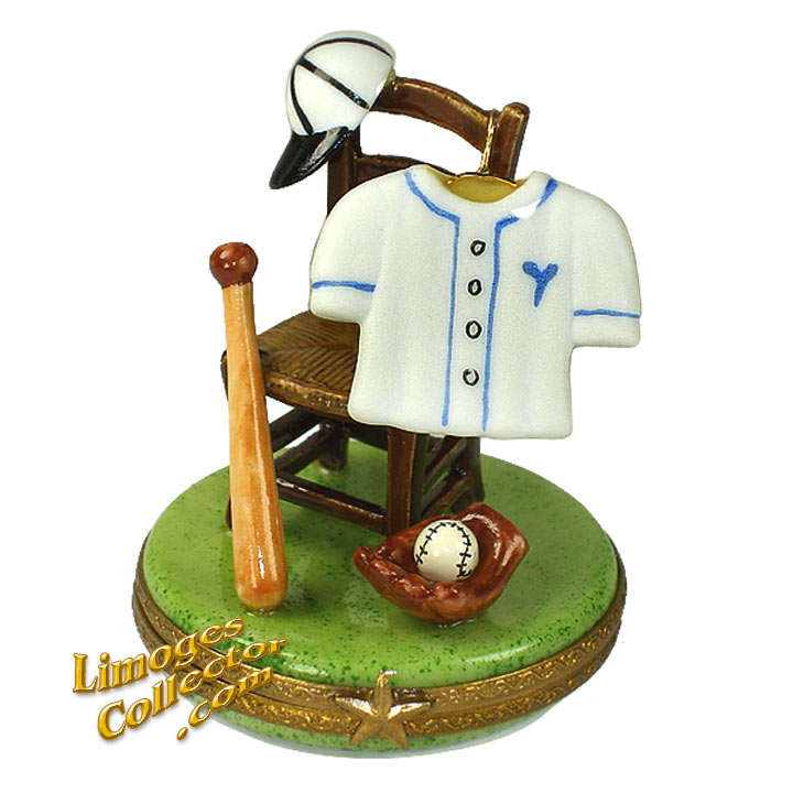 Baseball Uniform, Ball, Glove and Bat Limoges Box | Limogescollector.com