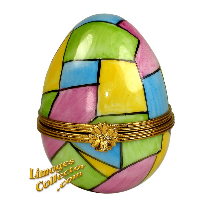 Easter Egg with Pastel Colors Limoges Box | LimogesCollector.com