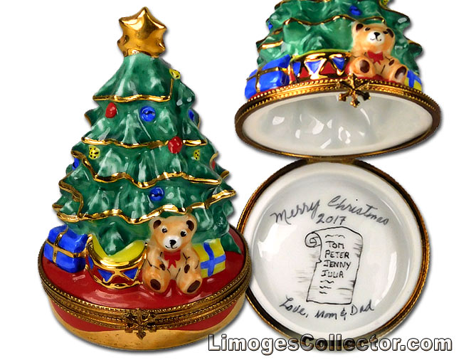 Personalized Christmas & Holiday Limoges boxes at LimogesCollector.com