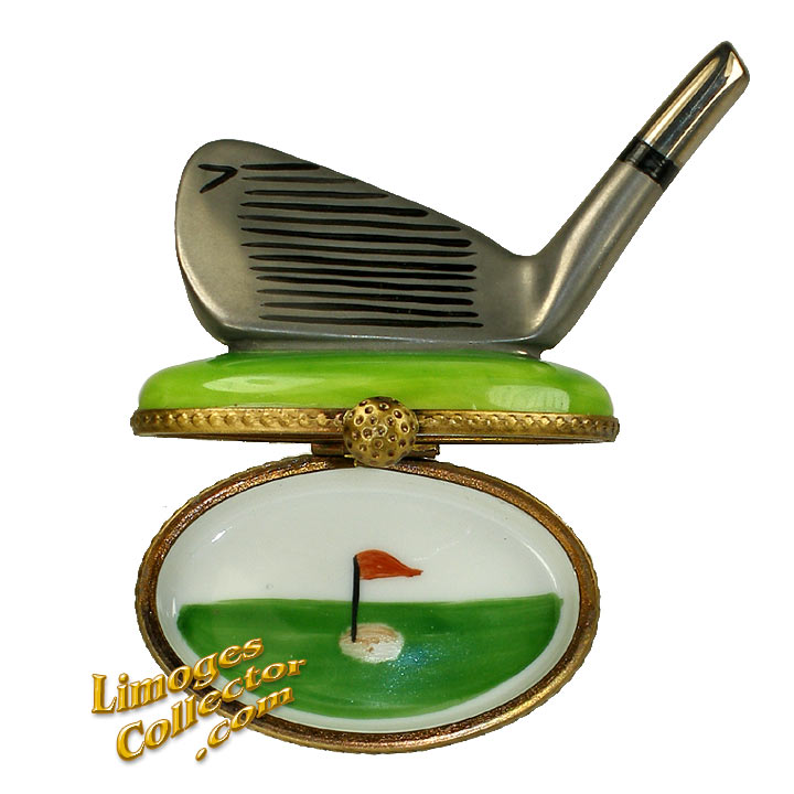 Golf Club Limoges Box | LimogesCollector.com