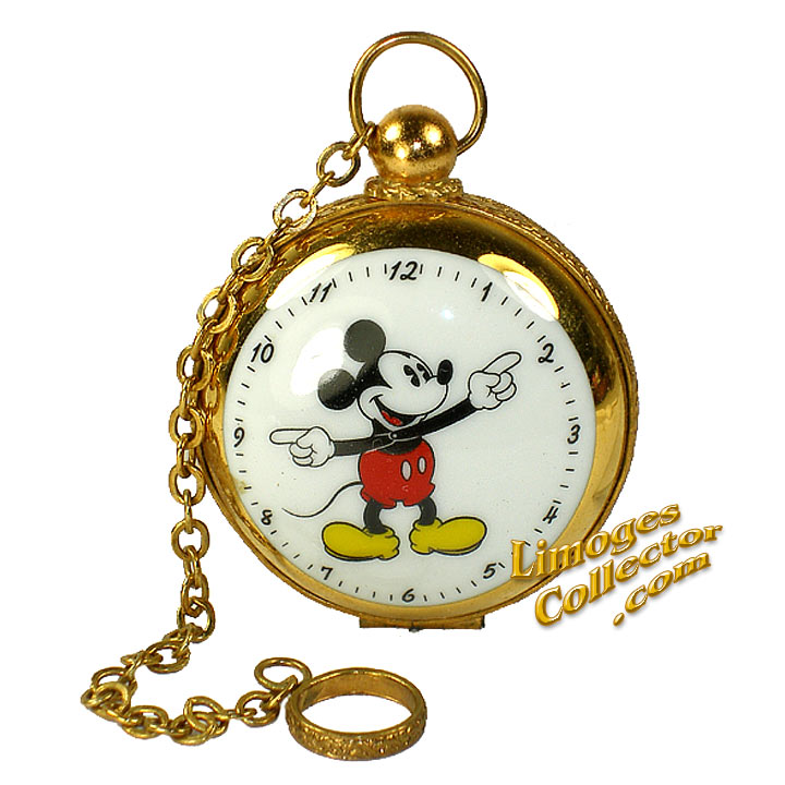 Mickey Mouse Watch Retired Limoges Box