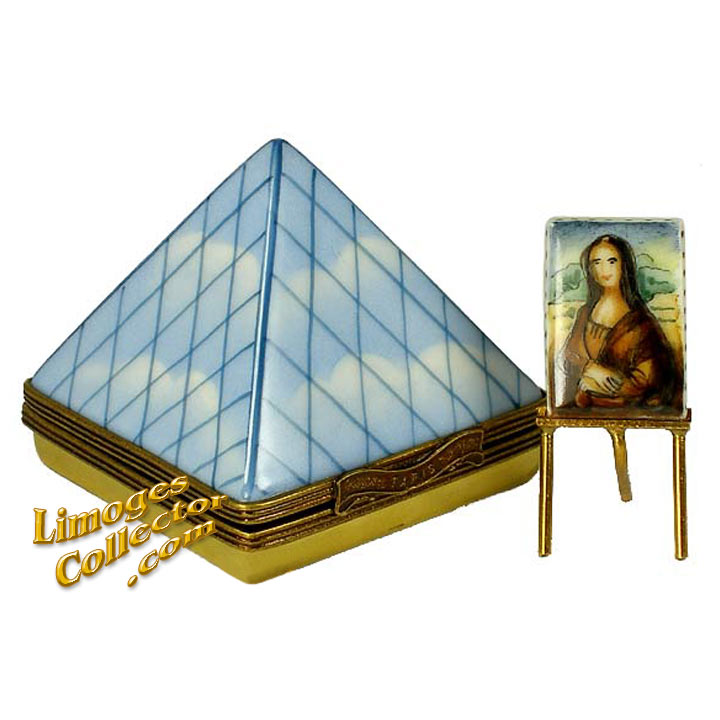 Louvre Museum with Mona Lisa Limoges Box by Beauchamp | LimogesCollector.com