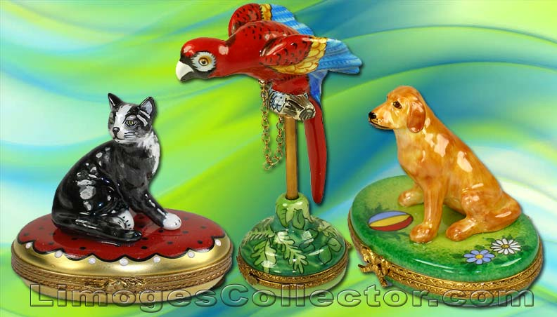Animals and Pets Limoges boxes - perfect Mother's Day Gifts | Limogescollector.com