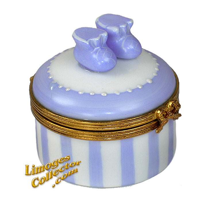Baby Boy Booties Limoges Box | LimogesCollector.com