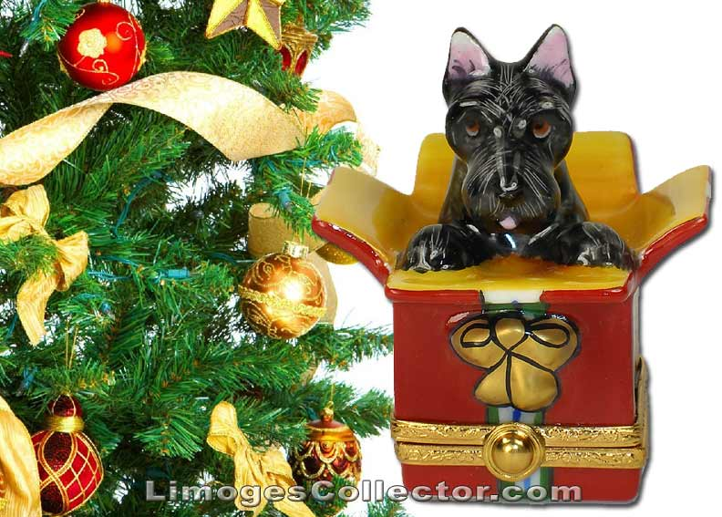 Dog Limoges boxes make perfect Christmas Gifts | LimogesCollector.com