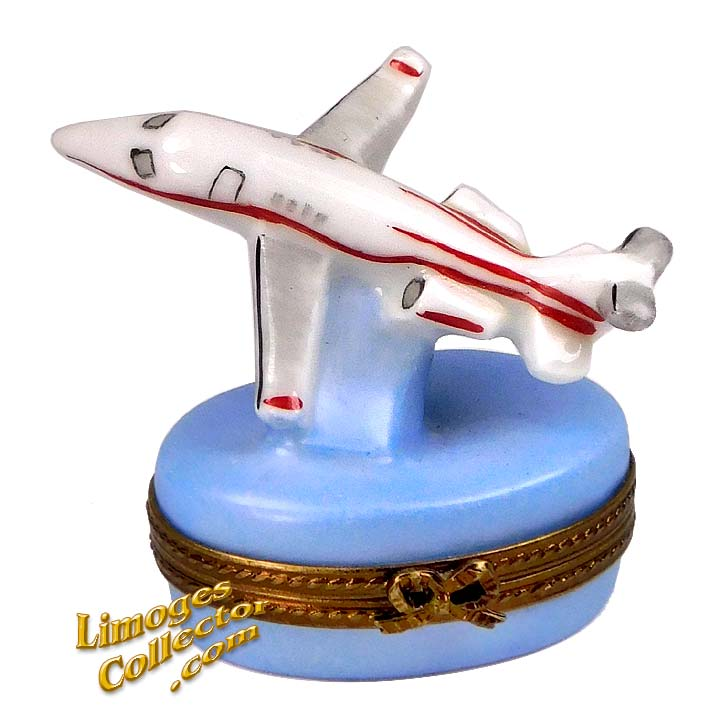 Private Jet Airplane Limoges Box | LimogesCollector.com