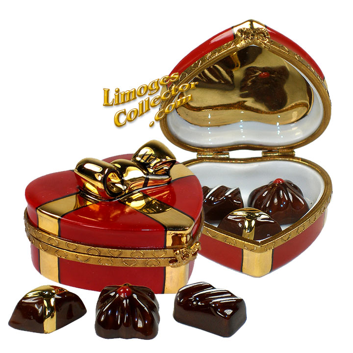 Heart Chocolate Limoges box | LimogesCollector.com