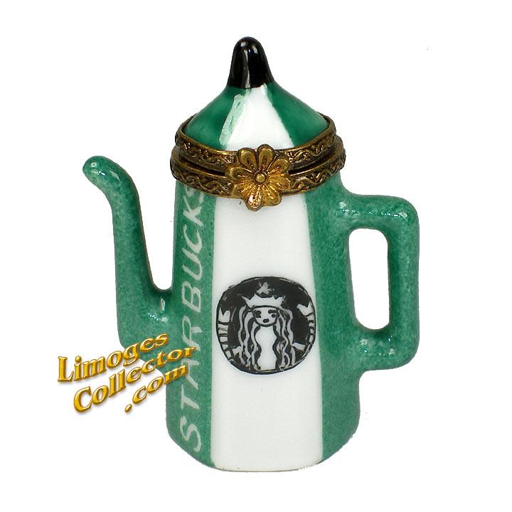 Starbucks Coffee Pot Limoges Box | LimogesCollector.com