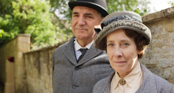 Mr. Carson and Mrs. Hughes of Downton Abbey