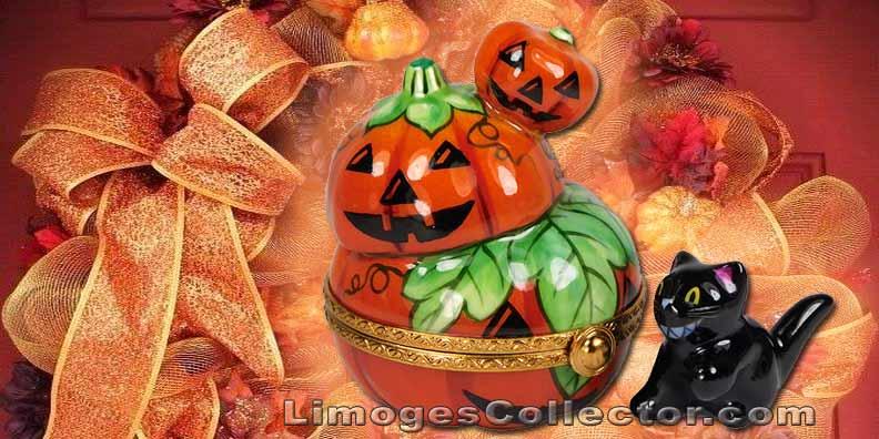 Halloween Cat Limoges Boxes | LimogesCollector.com