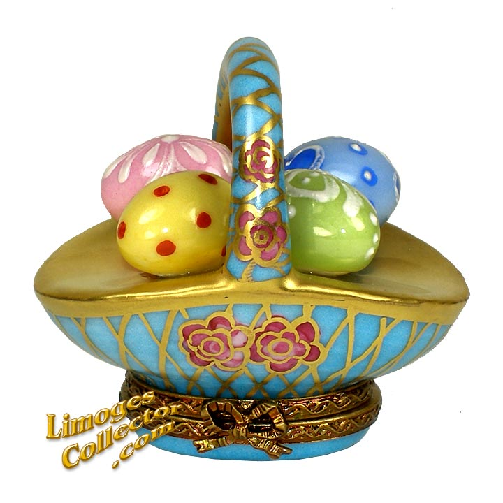 Easter Egg Basket Limoges Box | LimogesCollector.com