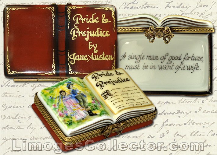"Jane Austen's ""Pride and Prejudice"" collectible Limoges box by Beauchamp 