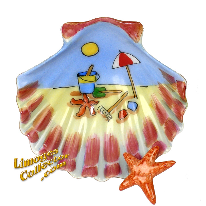 Beach Sea Shell Limoges box | LimogesCollector.com