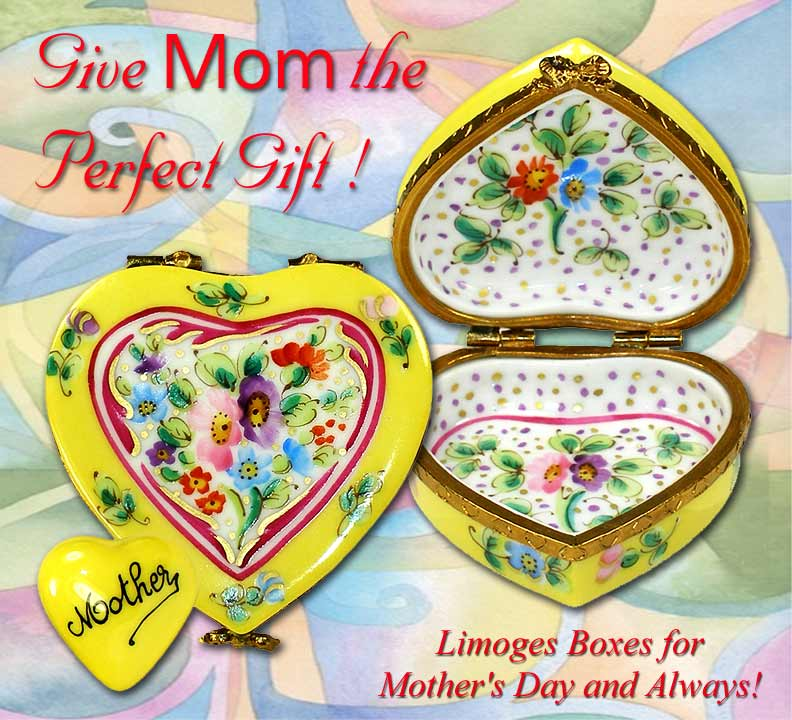 Mother's Day Heart Limoges Boxes | LimogesCollector.com