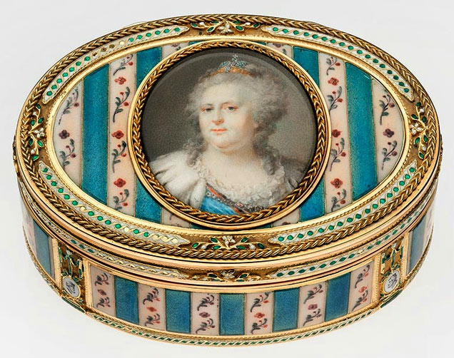 Snuffbox with Catherine the Great Portrait