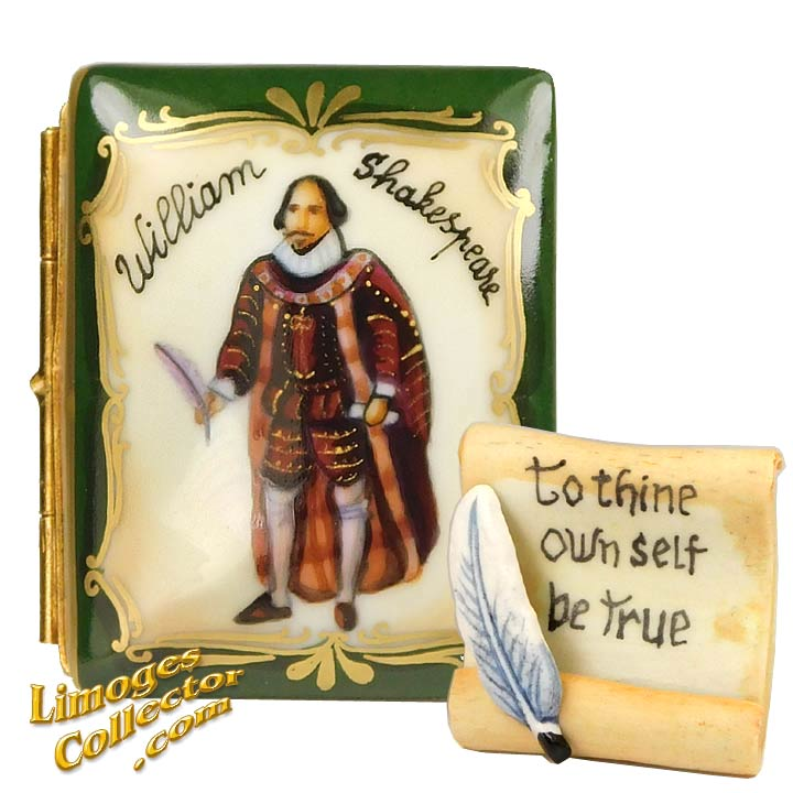 Shakespeare Book Limoges box by Beauchamp | LimogesCollector.com