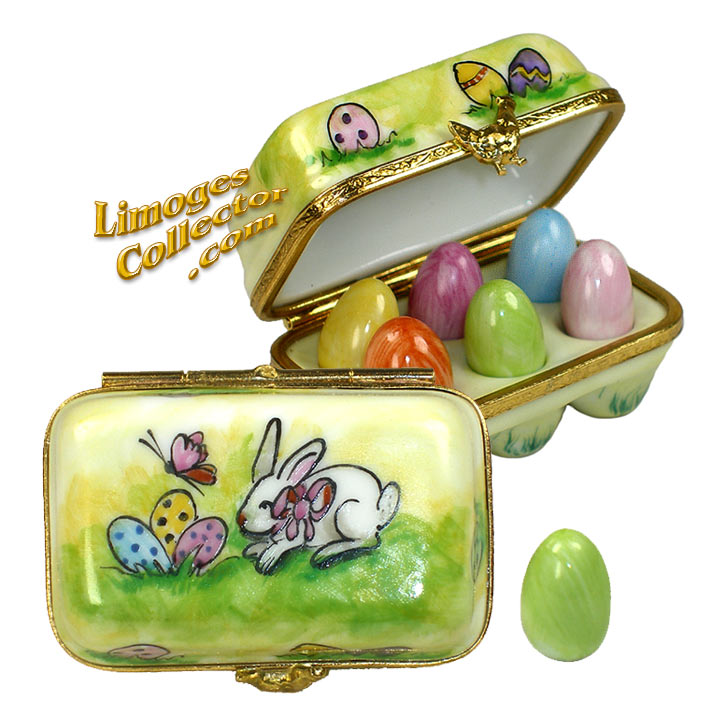 Easter Egg Carton Limoges box by Beauchamp Limoges | LimgoesCollector.com