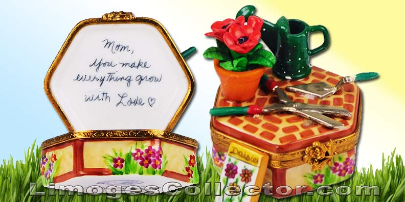 Gardening Limoges Boxes make perfect Mother's Day Limoges Boxes | LimogesCollector.com