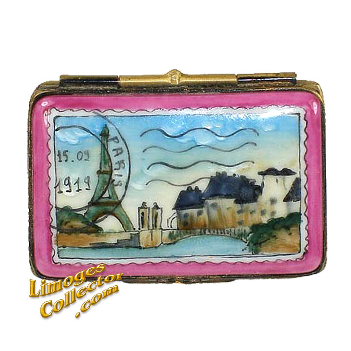 Paris Postcard Limoges Box | LimogesCollector.com