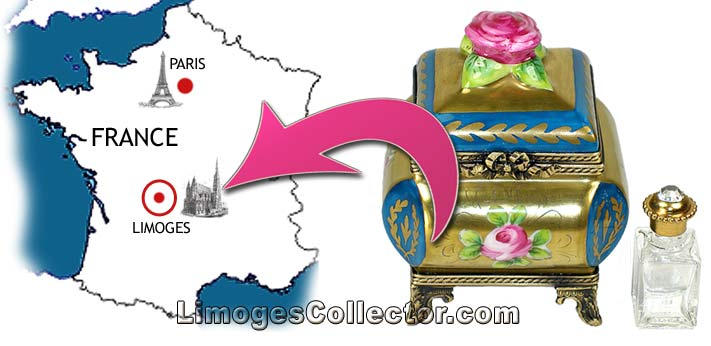 Limoges boxes are only made in the Limousine region of France
