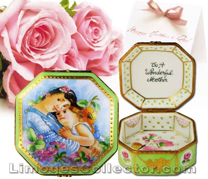 Mother Daughter Limoges Box for Mother's Day by Beauchamp | LimogesCollector.com