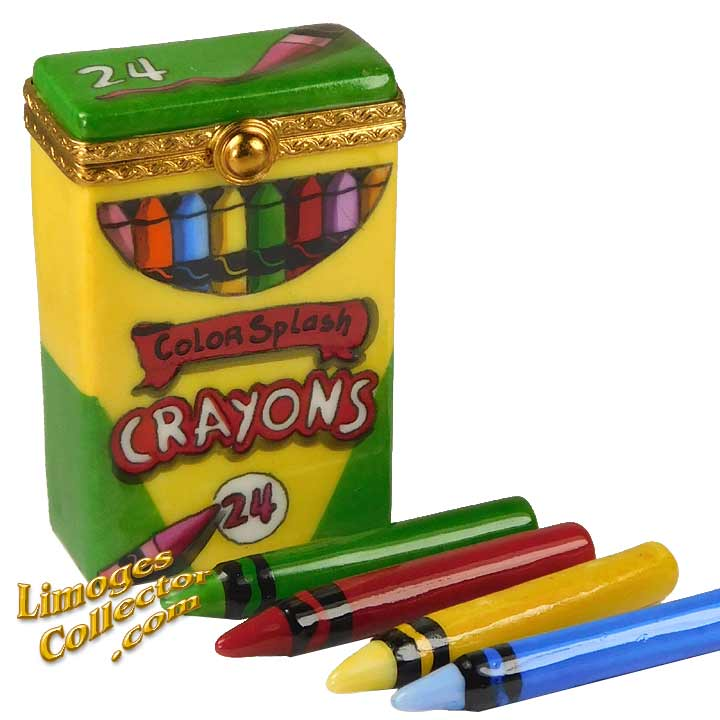 Box of Crayons, an Exclusive Limoges Box by Beauchamp Limoges | LimogesCollector.com
