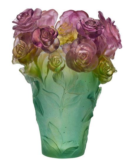 Lalique floral vase