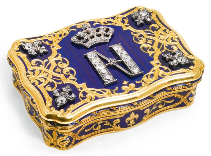 Gold and enamel Snuffbox owned by Philippe d'Orleans