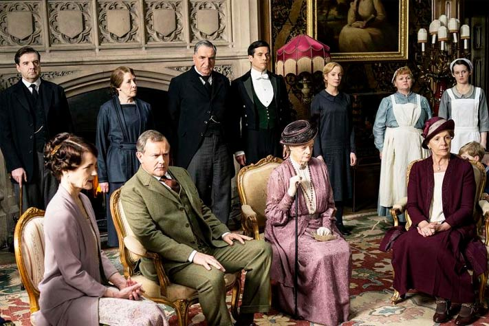 The family of Lord Grantham and staff from Downton Abbey