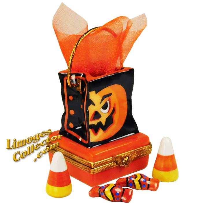 Halloween Trick or Treat Limoges Box by Beauchamp Limoges | LimogesCollector.com