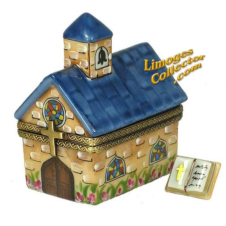 Country Church Limoges Box with Bible | LimogesCollector.com