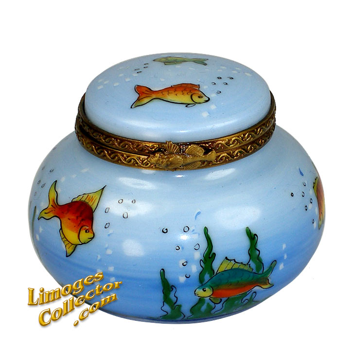 Aquarium Fish Bowl Limoges Box | LimogesCollector.com