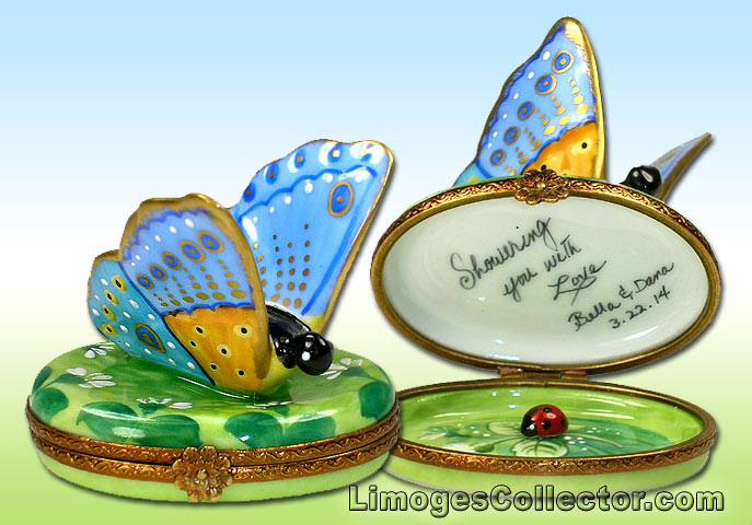 Personalized Butterfly Limoges Boxes from LimogesCollector.com