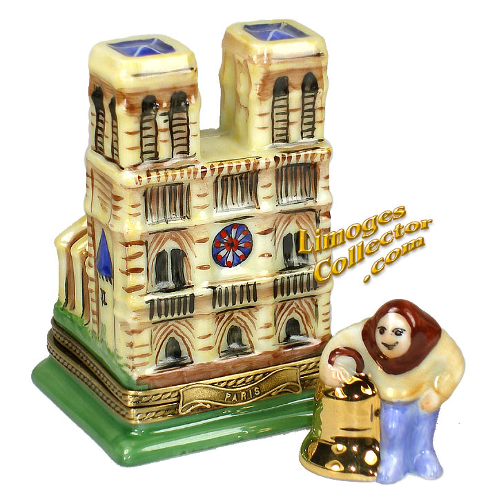 Notre Dame Cathedral with Quasimodo Limoges Box | LimogesCollector.com