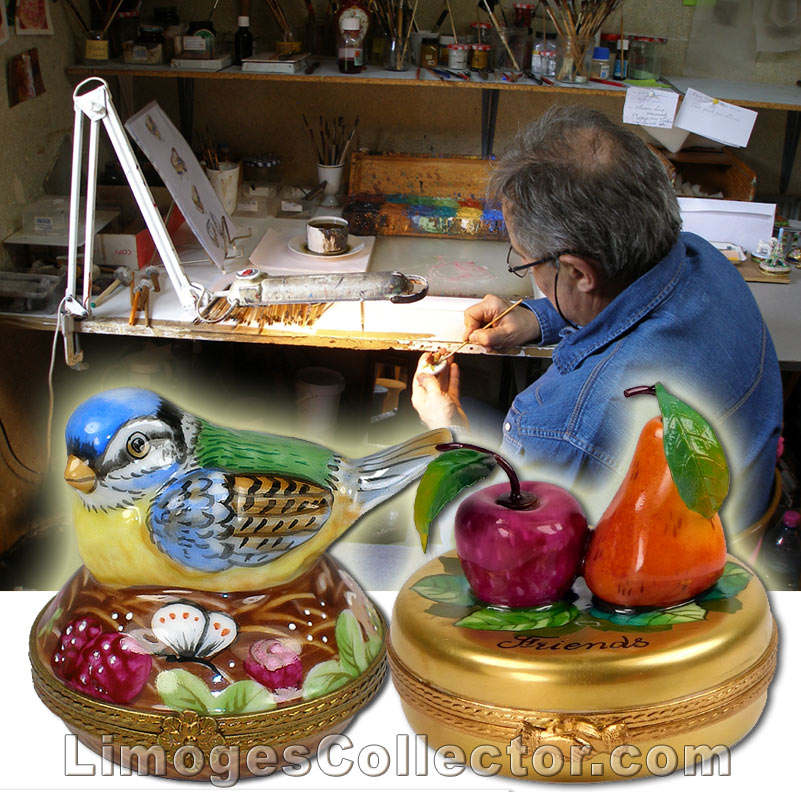 Mastrer artisans produce the highest quality Limoges boxes for Beauchamp Limoges | LimogesCollector.com