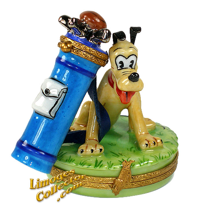 Walt Disney Pluto Golf Caddy Limoges box | LimogesCollector.com