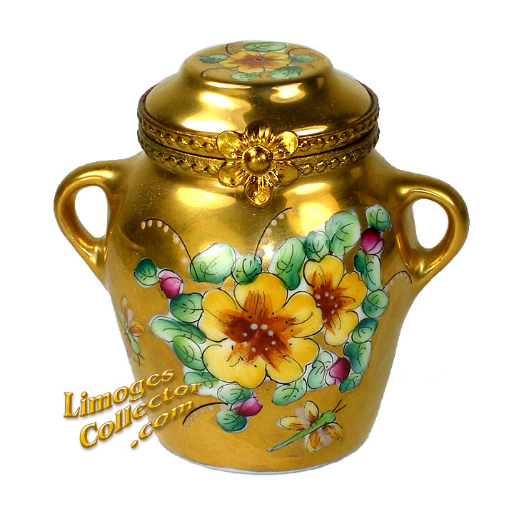 Gold Jar Limoges Box | LimogesCollector.com