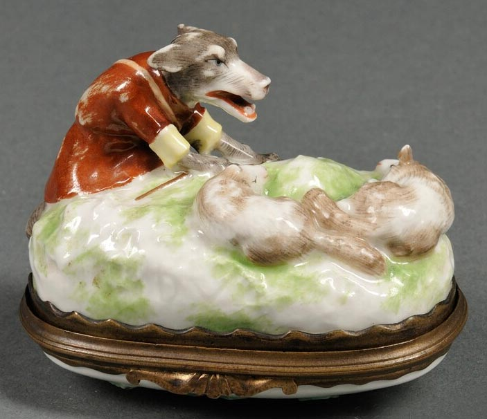 19th Century French Mennecy Porcelain Snuff Box