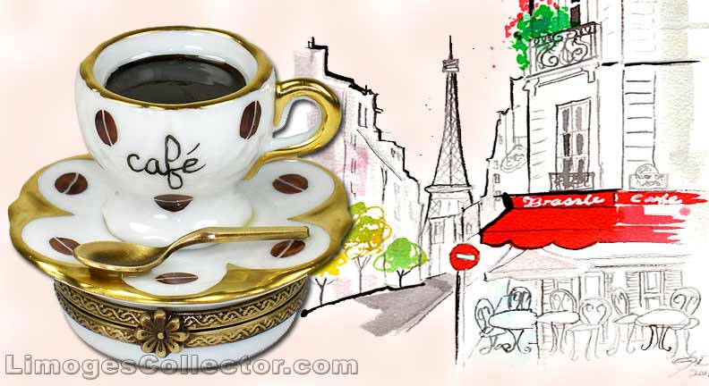 Coffee Limoges boxes | LimogesCollector.com