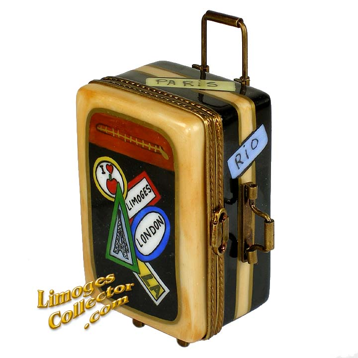 Suitcase Luggage Limoges Box | LimogesCollector.com