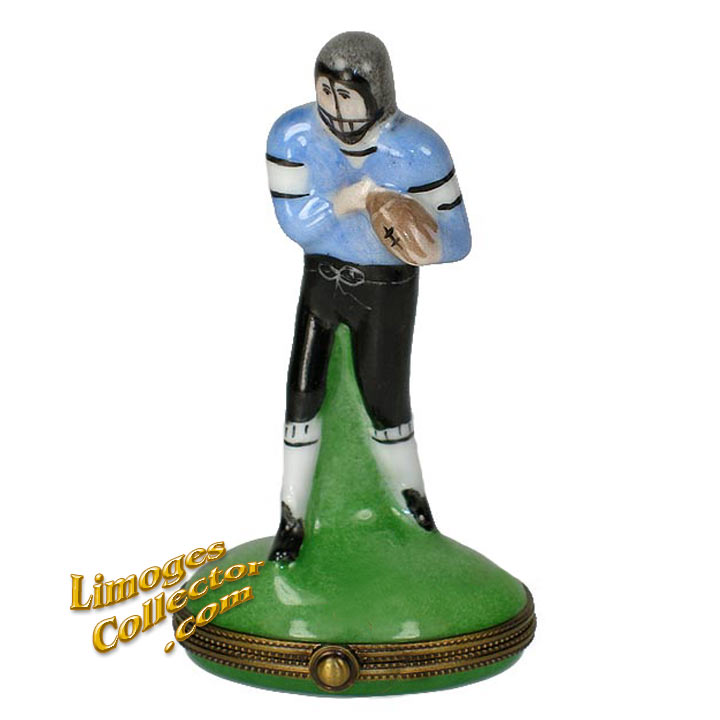 Quarterback Football Player Limoges Box | LimogesCollector.com