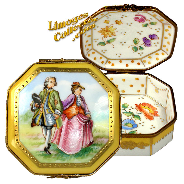 GALERIE COLLECTION ROMANTIC COUPLE CLASSIC LIMOGES BOX (BEAUCHAMP)