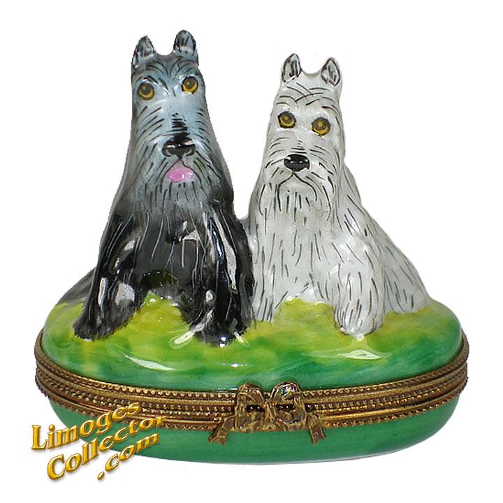 Scottie Dog Pair Limoges Box | LimogesCollector.com
