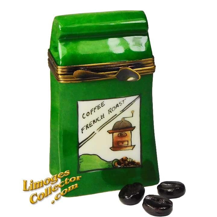 Bag of French Roast Coffee Beans Limoges Box | LimogesCollector.com