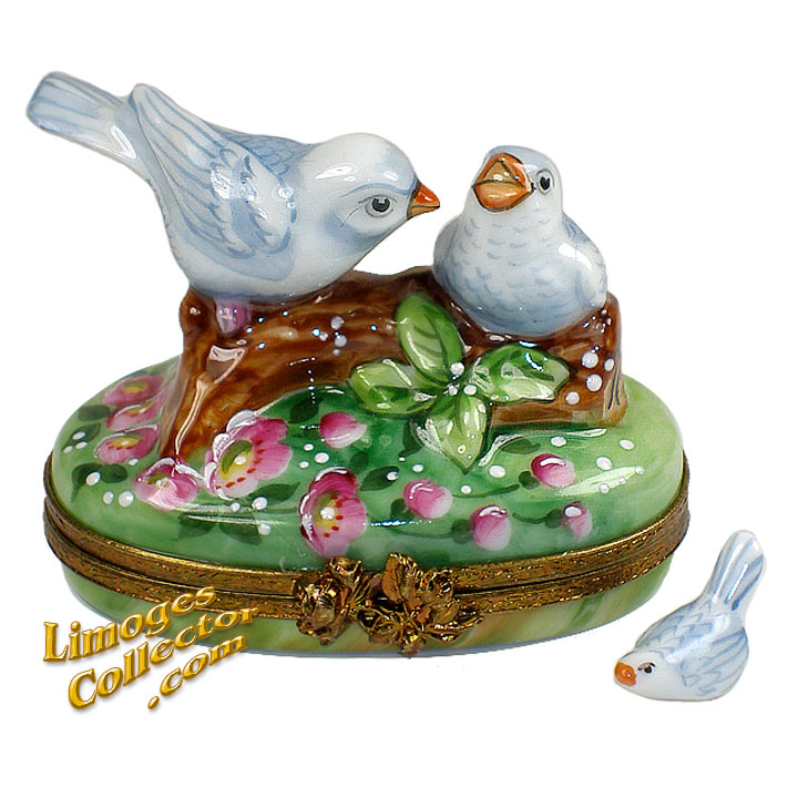Doves on a branch Limoges box | LimogesCollector.com