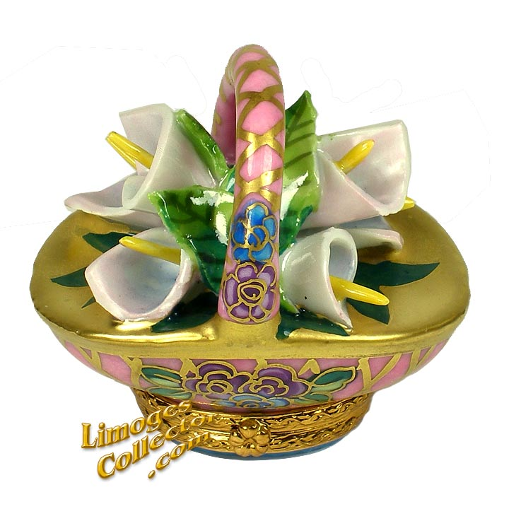 Basket of Easter Lilies Limoges Box by Beauchamp | LimogesCollector.com
