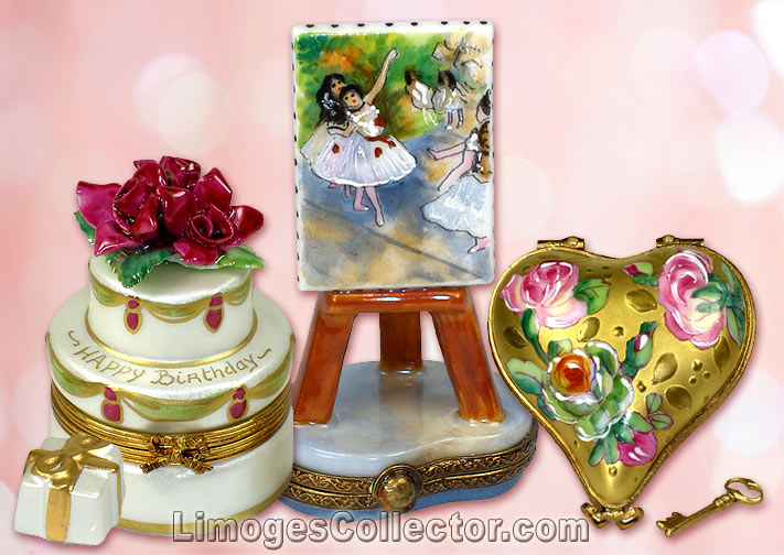 French Limoges boxes, exquisite miniature art pieces by Beauchamp Limoges | LimogesCollector.com